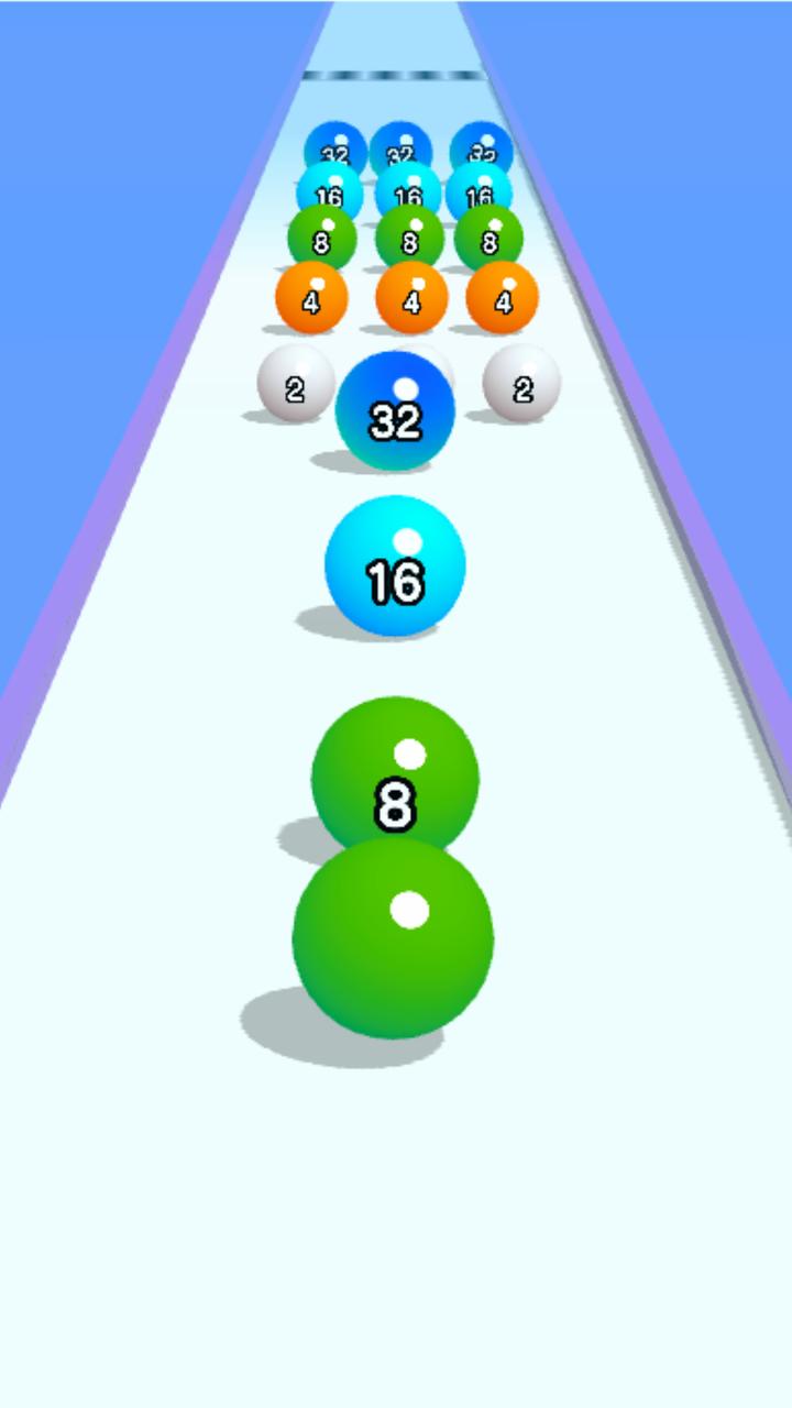 球球快跑2048游戏截图